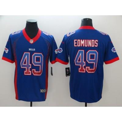Nike Bills 49 Tremaine Edmunds Blue Drift Fashion Vapor Limited Men Jersey