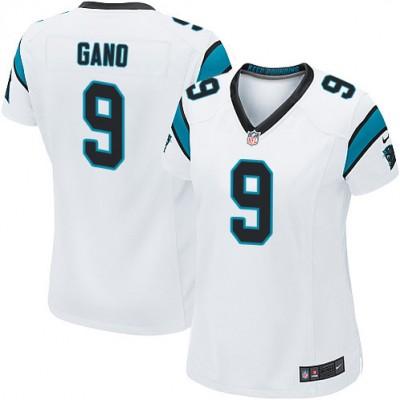Nike Carolina Panthers 9 Graham Gano White Women Jersey