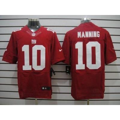 Nike New York Giants 10 Eli Manning Red NFL Elite Men Jersey