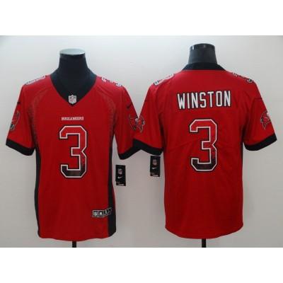 Nike Buccaneers 3 Jameis Winston Red Drift Fashion Vapor Limited Men Jersey