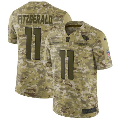 Nike Cardinals 11 Larry Fitzgerald 2018 Camo Salute to Service Limited Men Jersey