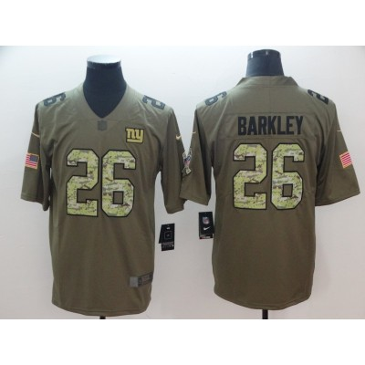 Nike Giants 26 Saquon Barkley Camo 2017 Salute To Service Limited Men Jersey
