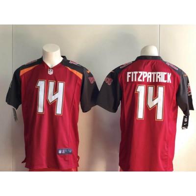 Nike NFL Buccaneers 14 Ryan Fitzpatrick Red Vapor Untouchable Limited Men Jersey
