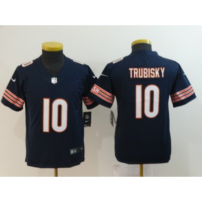 Nike Bears 10 Mitchell Trubisky Navy Vapor Untouchable Limited Youth Jersey