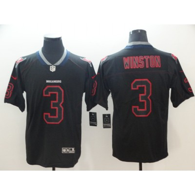 Nike Buccaneers 3 Jameis Winston Black Shadow Legend Limited Men Jersey