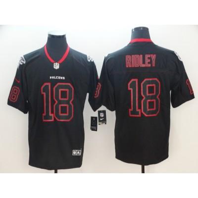 Nike Falcons 18 Calvin Ridley Black Shadow Legend Limited Men Jersey