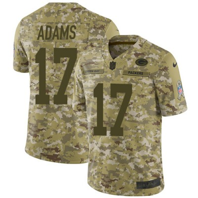 Nike Packers 17 Davante Adams 2018 Camo Salute to Service Limited Men Jersey