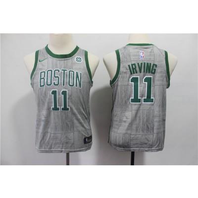 NBA Celtics 11 Kyrie Irving Gray City Edition Nike Youth Jersey
