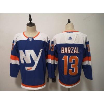 NHL Islanders 13 Mathew Barzal Blue New Alternate Adidas Men Jersey