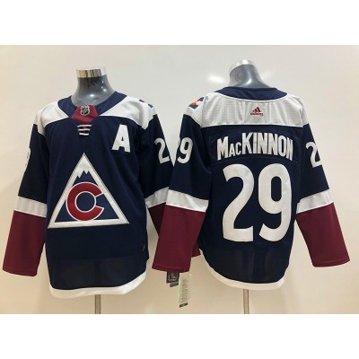 NHL Avalanche 29 Nathan MacKinnon Navy Blue Alternate Adidas Men Jersey