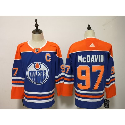 NHL Oilers 97 Connor McDavid Blue Alternate Adidas Men Jersey