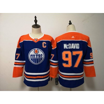 NHL Oilers 97 Connor McDavid Blue Alternate Adidas Youth Jersey