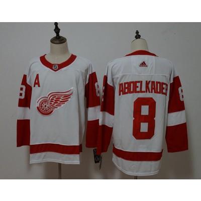 NHL Red Wings 8 Justin Abdelkader White Adidas Men Jersey