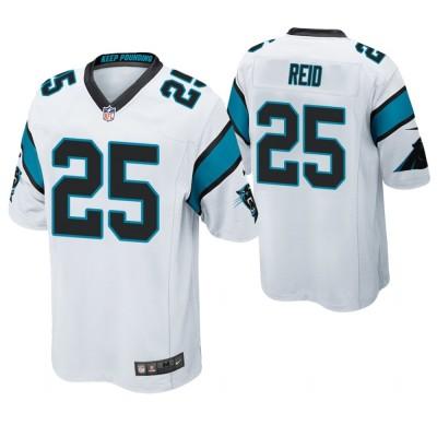 Nike Panthers 25 Eric Reid White Elite Men Jersey