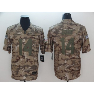 Nike Vikings 14 Stefon Diggs 2018 Camo Salute to Service Limited Men Jersey