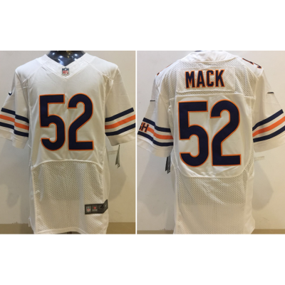Nike Chicago Bears 52 Khalil Mack White Elite Men Jersey