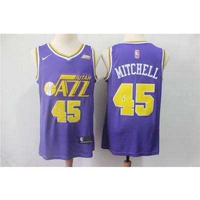 NBA Jazz 45 Donovan Mitchell Purple Nike Swingman Men Jersey