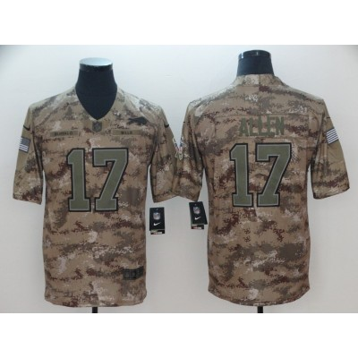 Nike Bills 17 Josh Allen 2018 Camo Salute to Service Limited Men Jersey