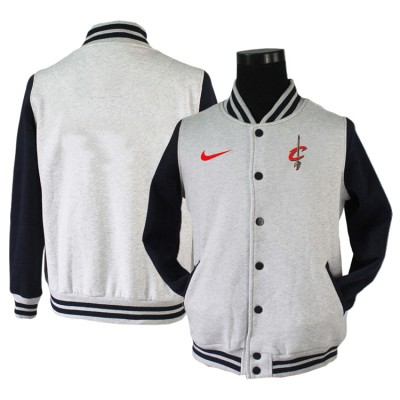 NBA Cleveland Cavaliers Blank Grey Navy Nike Wool Jacket