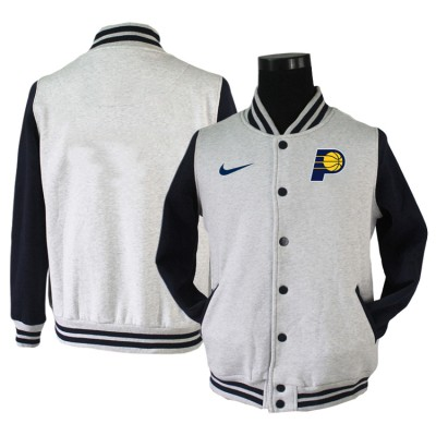 NBA Indiana Pacers Grey Navy Nike Wool Jacket