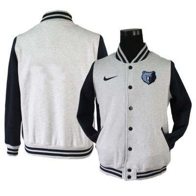 NBA Memphis Grizzlies Blank Grey Navy Nike Wool Jacket