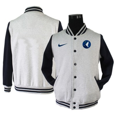 NBA Minnesota Timberwolves Blank Grey Navy Nike Wool Jacket