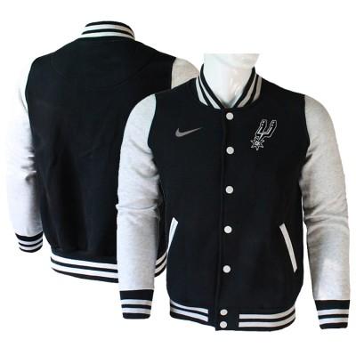 NBA San Antonio Spurs Blank Black Grey Nike Wool Jacket