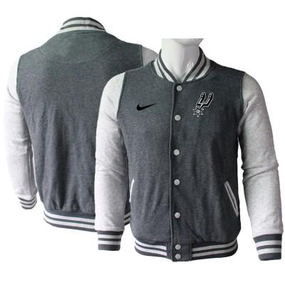 NBA San Antonio Spurs Blank Dark Grey Nike Wool Jacket