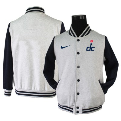 NBA Washington Wizards Blank Grey Navy Nike Wool Jacket