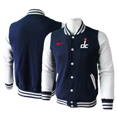 NBA Washington Wizards Blank Navy Grey Nike Wool Jacket