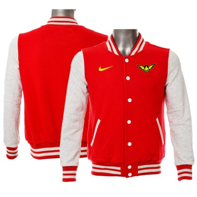 NBA Atlanta Hawks Blank Red Grey Nike Wool Jacket
