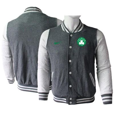 NBA Boston Celtics Blank Dark Grey Nike Wool Jacket