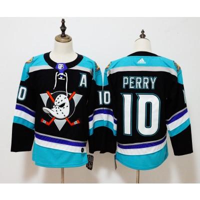 NHL Ducks 10 Corey Perry Black Adidas Men Jersey