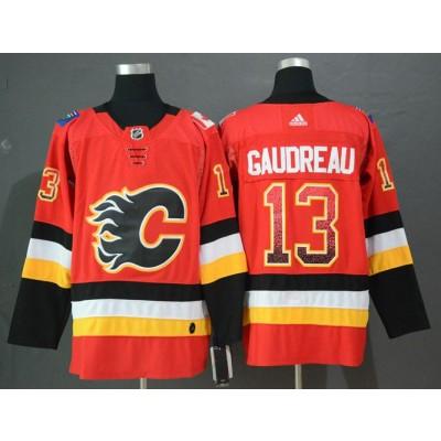 NHL Flames 13 Johnny Gaudreau Red Drift Fashion Adidas Men Jersey