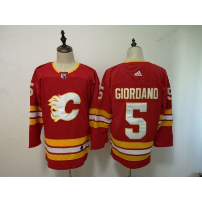 NHL Flames 5 Mark Giordano Red Third Adidas Men Jersey
