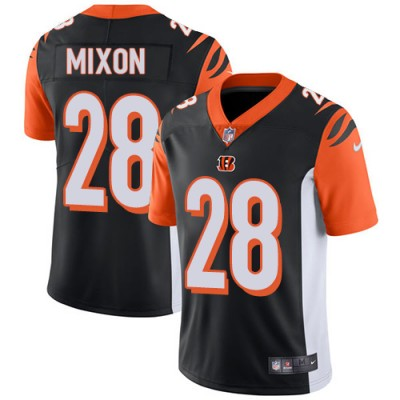 Nike Bengals 28 Joe Mixon Black Vapor Untouchable Limited Men Jersey
