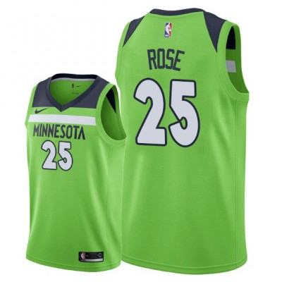 NBA Timberwolves 25 Derrick Rose Swingman Green Nike Swingman Men Jersey