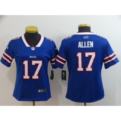 Nike Bills 17 Josh Allen Blue Vapor Untouchable Limited Women Jersey