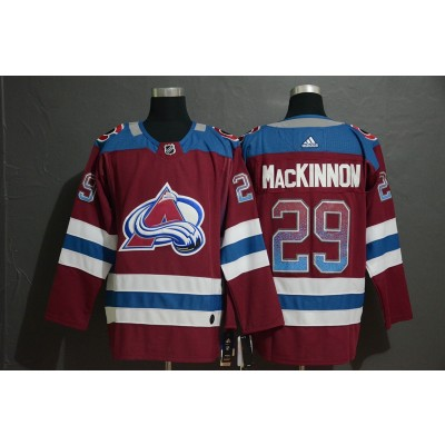 NHL Avalanche 29 Nathan MacKinnon Burgundy Drift Fashion Adidas Men Jersey
