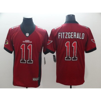 Nike Cardinals 11 Larry Fitzgerald Red Drift Fashion Limited Men Jersey