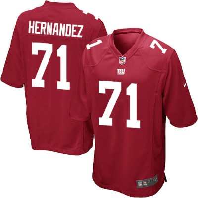 Nike NFL New York Giants 71 Will Hernandez Red Youth Jersey