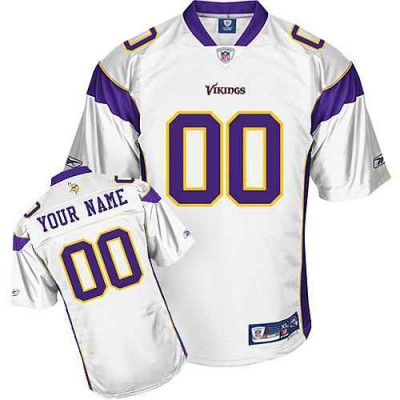 Reebok Minnesota Vikings White Customized Men Jersey
