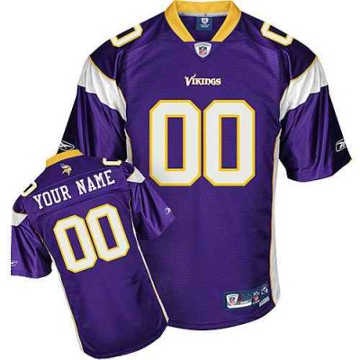 Reebok Minnesota Vikings Purple Customized Men Jersey