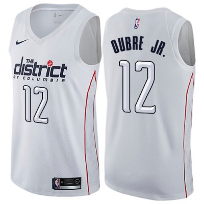 NBA Wizards 12 Kelly Oubre Jr. White City Edition Nike Men Jersey