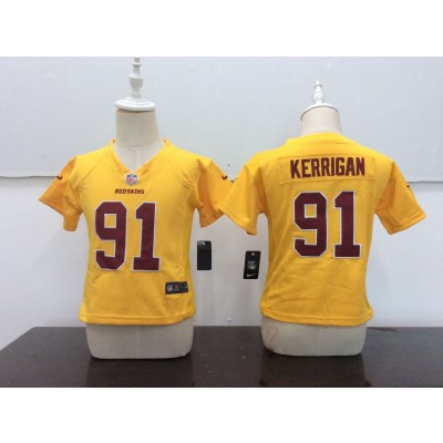 NFL Washington Redskins 91 Ryan Kerrigan Gold Color Rush Toddler Jersey