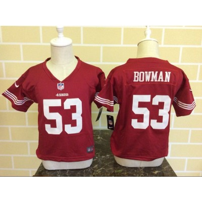 Nike 49ers 53 NaVorro Bowman Red NFL Toddler Jersey