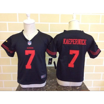 Nike 49ers 7 Colin Kaepernick Black Toddler Jersey