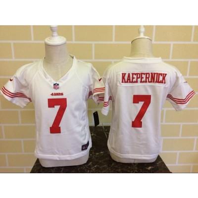 Nike 49ers 7 Colin Kaepernick White Toddler Jersey