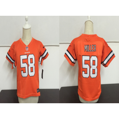 Nike Broncos 58 Von Miller Orange NFL Toddler Jersey