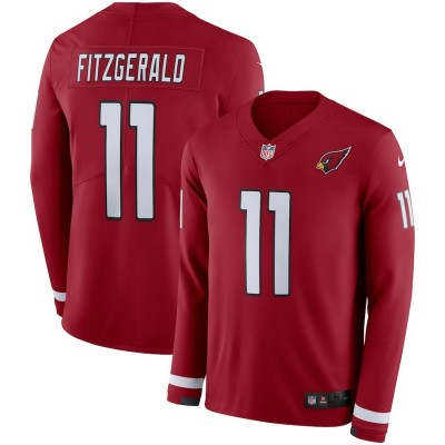 Nike Cardinals 11 Larry Fitzgerald Red Long Sleeve Limited Men Jersey